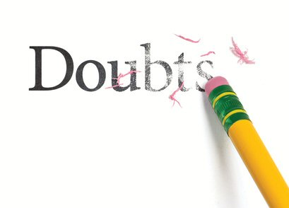 erase doubts